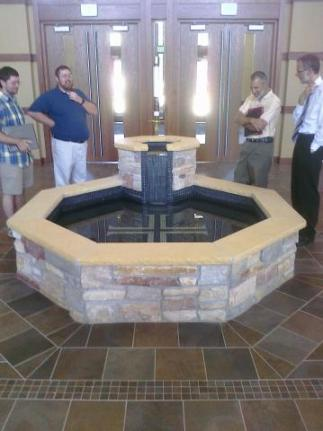Baptismal Font at the Chapel of the Christ at MLC in New Ulm, MN